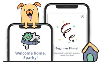 welcome home sparky! beginner phase of my pup app